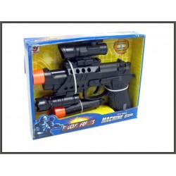 Pistolet 20cm z latarką i tłumikiem ze światłem i dźwiękiem