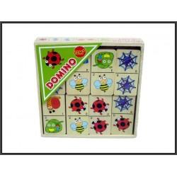 Domino drewniane 16x16x3,3cm