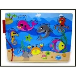Gra rybki drewno 30x22,5cm