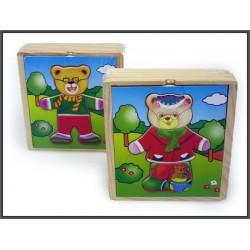 Układanka drewniana 13x15x4,5cm w pudełku