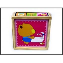 Układanka drewniana w pudełku