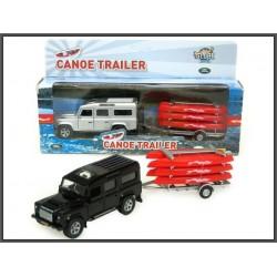 Land Rover z Łódkami